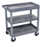 Luxor 18x32 Cart with 2 Tub Shelves and 1 Flat LUXEC121HD-G