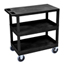 Luxor 18x32 Cart with 2 Tub/1 Flat Shelves LUXEC211HD-B