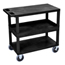 Luxor 18x32 Cart with 2 Flat/1 Tub Shelves LUXEC212HD-B