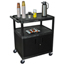 Luxor Coffee Service Cart LUXHE40C-B