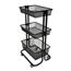 Luxor Kitchen Utility Cart, Black LUXKUC-BK