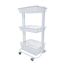 Luxor Kitchen Utility Cart, White LUXKUC-WH