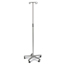 Medline Aluminum Deluxe Five Leg IV Pole MEDMDS80494