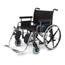 Medline Shuttle Extra-Wide Wheelchair (MDS809650) MEDMDS809650