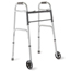 Medline 2-Button Folding Walkers with 5
