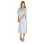 Medline Comfort-Knit Adolescent Patient Gowns- Blue MEDMDT011370