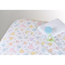 Medline 100% Cotton Woven Crib Sheet, Print, 24