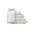 Medline Premium 100% Cotton Ring Spun Terry Bath Towels, White, 22