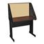 Marvel Group Pronto School Training Table w/Carrel & Modesty Panel Back, 36Wx30D - Dark Neutral/Beryl Fabric MLGPRCM0011_DT8561