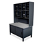 Marvel Group 40 Slot Mailroom Organizer with Cabinet, Riser MLGUTIL0064BK