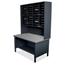 Marvel Group 40 Slot Mailroom Organizer, 1 Storage Shelf, Riser MLGUTIL0065BK