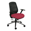 Marvel Group Wave Chair, Raspberry Fabric/Aluminum Base MLGWPCOPFA-F6557