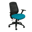 Marvel Group Wave Chair, Teal Fabric/Black Base MLGWPCOPFB-F6553