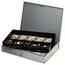 MMF Industries STEELMASTER® by MMF Industries™ Locking Heavy-Duty Steel Extra-Wide Cash Box MMF2215CBTGY