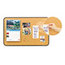 3M Post-it® Sticky Cork Board MMM558BB