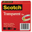 3M Scotch® Transparent Glossy Tape MMM6002P1272