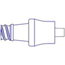 ICU Medical Injection Site Clave Connector Adapter, 100/CS MON10402800