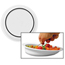 Sammons Preston Hi-Lo Scoop Plate White Polypropylene 9 Diameter X 1/2 H Inch, 3/4 Inch Rim, 1-1/2 Inch Vertical Wall MON15404000