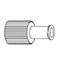 B. Braun Luer Replacement Cap Red Cap®, 100 EA/BX MON20112800