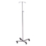 McKesson IV Pole Floor Stand entrust® Performance 2-Hook 4-Leg, Rubber Wheel, Ball-Bearing Casters, 22 Inch Epoxy-Coated Steel Base MON25203200