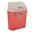 Medtronic Sharps-A-Gator™ Safety In Room Sharps Container Counterbalance Lid, Transparent Red 3 Gallon MON33112800