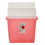 Medtronic Sharps-A-Gator™ Sharps Container, Tortuous Path, Transparent Red, 5 Quart MON40102801