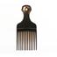 Cardinal Comb & Brush Hair Pick Medium Black Polypropylene, 12EA/DZ MON42761700