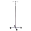 McKesson IV Pole Floor Stand entrust® 2-Hook 4-Leg, Dual-Wheel Nylon Casters, 22 Inch Epoxy-Coated Steel Base MON59703200