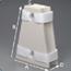 DeRoyal Hip Abduction Pillow Medium Hook and Loop Strap Closure, 2EA/CS MON60074300