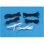 Sammons Preston Shoelaces Tylastic® Black Elastic, 2PR/PK MON67014000