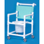 Innovative Products Shower Commode Chair With Arms PVC Mesh Backrest MON91113500