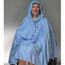 Skil-Care Shower Poncho with Hood Blue One Size Fits Most 23-1/2 Inch Back Front Opening MON91503000