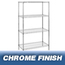 Nexel Industries Wire Shelving Starter Unit, 4 Shelves, L 36