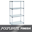 Nexel Industries Steel Shelving Starter Unit, 4 Shelves, L 36