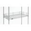 Nexel Industries Chrome Shelf Ledge, Size 4