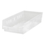 Quantum Storage Systems Clear Economy Shelf Bins QNTQSB104CL