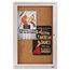 Quartet Quartet® Enclosed Indoor Cork Bulletin Board with Hinged Doors QRT2363