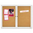 Quartet Quartet® Enclosed Indoor Cork Bulletin Board with Hinged Doors QRT2364