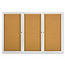 Quartet Quartet® Enclosed Indoor Cork Bulletin Board with Hinged Doors QRT2367