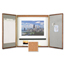Quartet Quartet® Marker Board Cabinet with Projection Screen QRT853