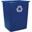 Rubbermaid Commercial Glutton® Recycling Container RCP256B-73BLU