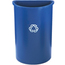 Rubbermaid Commercial Half-Round Recycling Container RCP3520-73BLU