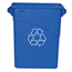 Rubbermaid Commercial Slim Jim® Recycling Container with Handles RCP3541-73BLU