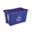 Rubbermaid Commercial Rubbermaid® Commercial Stacking Recycle Bin RCP571873BE