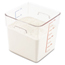 Rubbermaid Commercial SpaceSaver Square Containers RCP6308CLE
