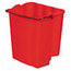 Rubbermaid Commercial Dirty Water Bucket for WaveBrake® Bucket/Wringer RCP9C74RED