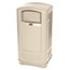 Rubbermaid Commercial Rubbermaid Commercial® Plaza™ Indoor/Outdoor Waste Container RCP9P9000BG