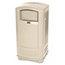 Rubbermaid Commercial Rubbermaid Commercial® Plaza™ Indoor/Outdoor Waste Container RCP9P9000BG