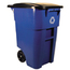 Rubbermaid Commercial Square Brute® Recycling Rollout Container RCP9W27-73BLU