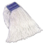 Rubbermaid Commercial Non-Launderable Cotton/Synthetic Cut-End Wet Mop Heads RCPF558WHI